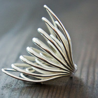 3D-Printed Sterling Silver Statement Ring
