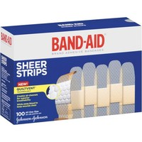 Band-Aid Sheer Strips Bandages, 100 count - Walmart.com