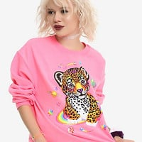 Lisa Frank Hunter The Leopard Outer Space Girls Sweatshirt