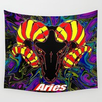 Aries Wall Tapestry by JT Digital Art