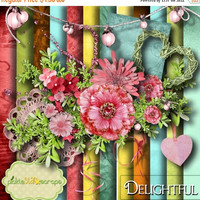 ON SALE Flower Scrapbooking Kit Floral Printable Flower Papers Romantic Background 12x12 Floral Paper Garden Background Quickpage Layout Del
