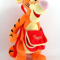 """Disney Orange Tigger w/ Bag 17""""-18"""" Plush Backpack Tote- NEW with Tags Licensed!"""