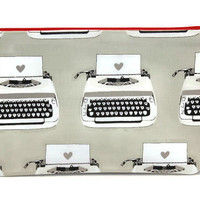 Planner Typewriter Pouch,  Pencil Pouch, Pencil Case, Bible Journaing, Zipper Pouch