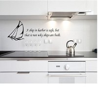 Ships are safe in Harbor Wall Decal