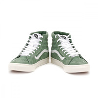 Vans Womens Green / True White Suede SK8-Hi Slim Trainers