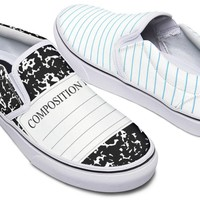 Writers Notepad Slip-On Shoes