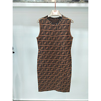 Fendi Fashion Women Show Body Sleeveless Vest Type Dress