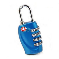 TSA Lock - 4 Digit Combination - Best Luggage Padlock for Travel Safety and Security - Lock Alert, Heavy Duty, Assorted Colors Lock Safe Protection - TSA Approved
