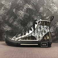 B23 High Top Dior Oblique Sneaker Black