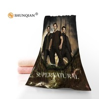 New Custom Supernatural 02 Towel Printed Cotton Face/Bath Towels Microfiber Fabric For Kids Men Women Shower Towels A7.24