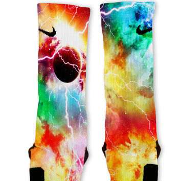 Inferno Galaxy Customized Nike Elite Socks