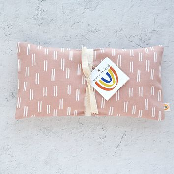 Rose Dash Linen Oversized Eye Pillow - Limited Edition