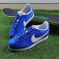 Nike Classic Cortez Suede Blue Sport Running Shoes 532487-403