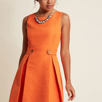 So Sixties A-Line Dress in Clementine