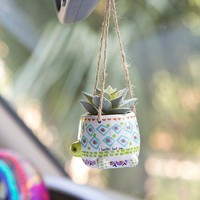 Turtle Mini Faux Hanging Succulent