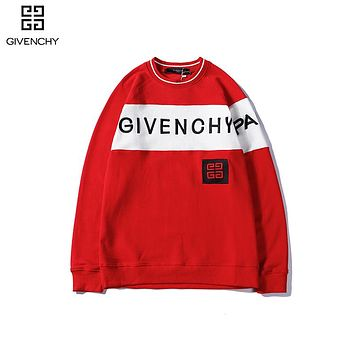 GIVENCHY Casual Long Sleeve Pullover Top Sweatshirt