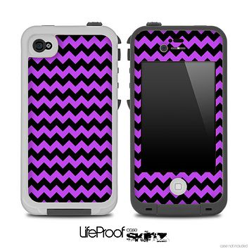 Purple and Black Chevron Pattern for the iPhone 5 or 4/4s LifeProof Case