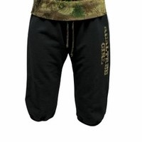 The Game's Womens French Terry Camo Cropped Pant - Ebony