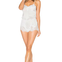 homebodii Marie Playsuit in White