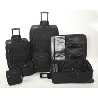 Geoffrey Beene Ebony 6-piece Luggage Set | Overstock.com Shopping - The Best Deals on Six-piece Sets & Up
