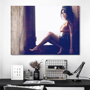 Canvas Painting Prints Modular Figure Poster Wall Art HD Amy Winehouse Pictures Minimalism For Living Room Home Decoration Frame|Painting & Calligraphy