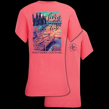 Southern Couture Classic Collection Livin on Lake Time T-Shirt