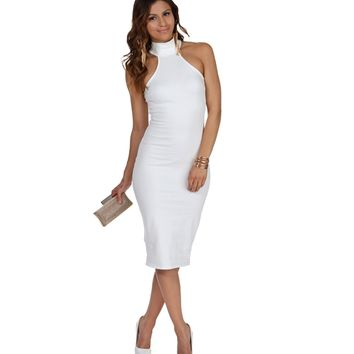Sale- Ivory Up To No Good Bodycon Dress