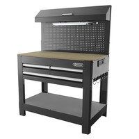 Shop Kobalt 45-in W x 36-in H 3-Drawer Wood Work Bench at Lowe's