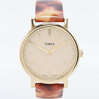 Timex Tortoiseshell Baton Watch in Gold - Urban Outfitters