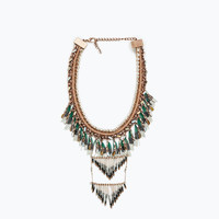 Necklace with colorful crystals