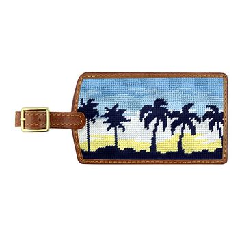 Oasis Needlepoint Luggage Tag by Smathers & Branson