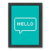 Americanflat Motivated Type Digital ''Hello'' Framed Wall Art