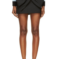Marc By Marc Jacobs Black Sixties Wool Bow Skirt