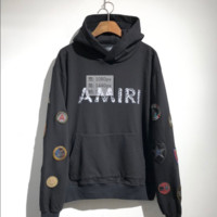 Amiri 2016AW Badges Washed Retro Hoodie