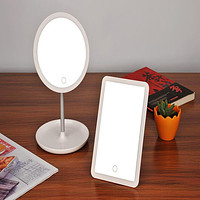 New Makeup Mirror Table Lamp Mirror Table Lamp Rechargeable Led Bedroom Bedside Lamp Creative Storage Function