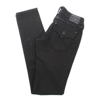 Julie Pyramid Stud Black Denim Jeans