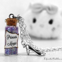 Princess Magic Necklace with a Slipper Charm, Perfect for Prince Finding, or finding Helpful Woodland Creatures, by Life is the Bubbles