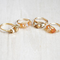 Gemstone Rings, Wire Wrap Rings, Dainty Ring