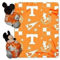 Tennessee Volunteers NCAA Mickey Mouse Throw and Hugger Pillow Set