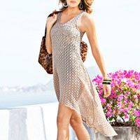 Spring New Hot Sale Openwork Lace Skirt Sling Dress