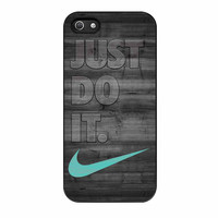 Nike Mint Just Do It Wooden Gray iPhone 5s Case