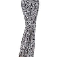Printed Low Waist Wide Leg Pants