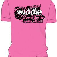 Midwest Volleyball Warehouse - Pink Middle T-Shirt