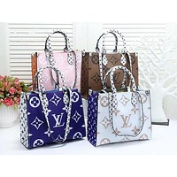 LV Louis Vuitton Fashion Ladies Hand Bill Of Lading Shoulder Bag With Mixed Colors And Printed Logo