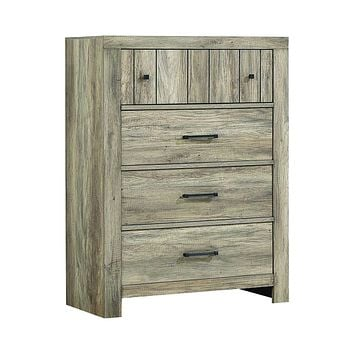 Adelaide 4-Drawer Chest Rustic Oak By Coaster