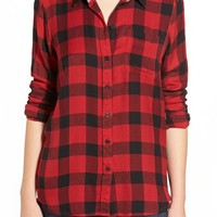 Lucky Brand 'Bungalow' Plaid Button Back Shirt   Nordstrom
