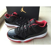 aj11 air jordan 11 low bred men women sneaker