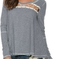 FREE PEOPLE LACEY LOVE PULLOVER