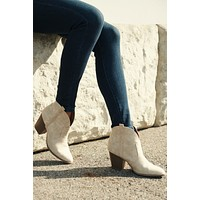 Rae Stitched Western Booties (Stone)