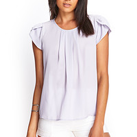 FOREVER 21 Pleated Woven Blouse